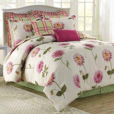 Pink Floral Comforter Set