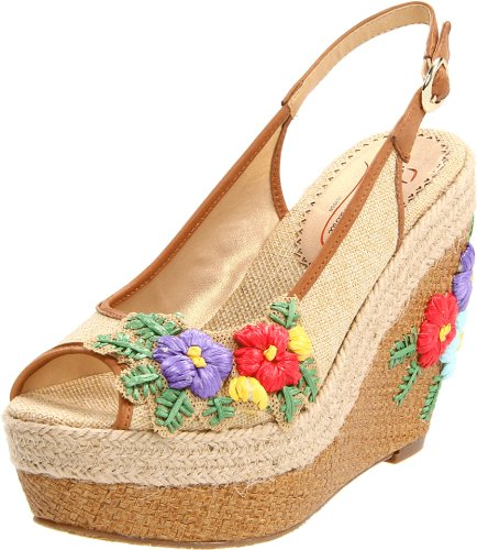 Adorable Floral Wedge Sandals for Spring