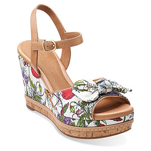 White Floral Summer Sandals