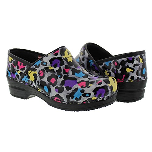 Colorful Leopard Print Clogs
