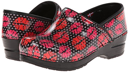 Fun Kiss Print Clogs for Women