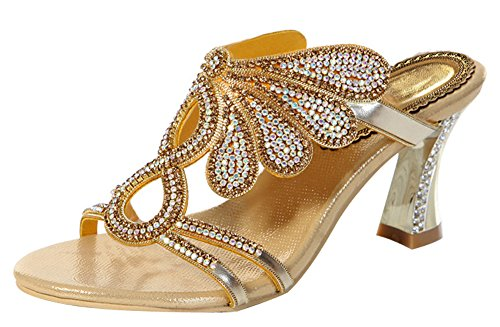 Gold Butterfly Dress Sandals