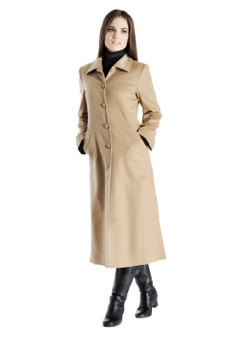 Women's Full Length Overcoat in Pure Cashmere