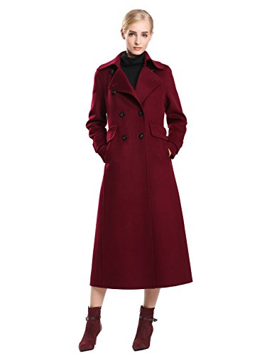 burgundy long wool coat