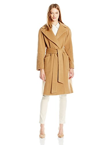 Belt Wrap Style Wool Winter Coat