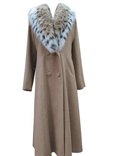 Brown Color Pure Long Cashmere Coat