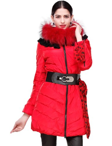 Affordable Bright Red Winter Coat for Women
