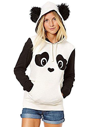 Panda Print Hoodies