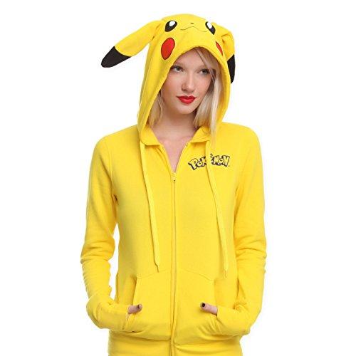 Pikachu Fleece Hoodie with Ears