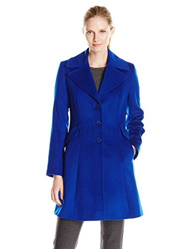 Women's Blue Wool Coat