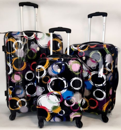 Fun Circle Pattern Luggage Set