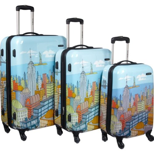 NYC Cityscapes 3 Piece Luggage Set