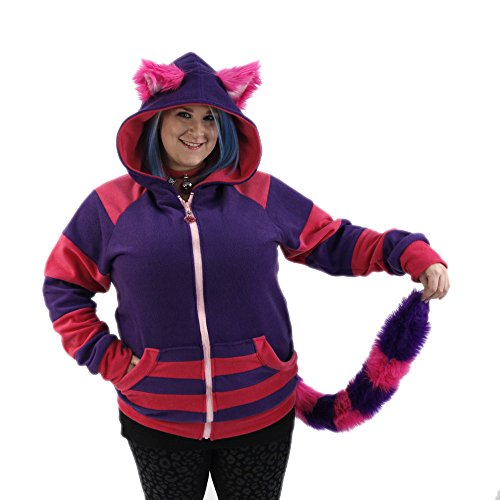 Cheshire Cat Hoodie with Tail