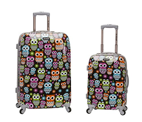 Cute OWLS 2 Piece Upright Luggage Set