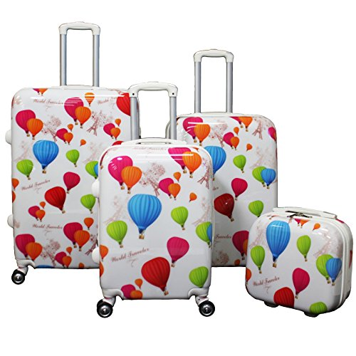 Colorful Hot Air Balloons Print Luggage Set