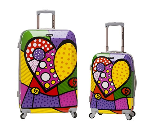 Colorful Heart Design Luggage