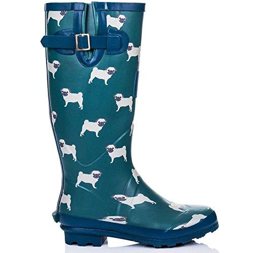 Cute Pugs Design Rain Boots