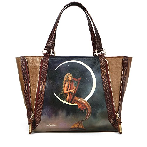 unique leather totes