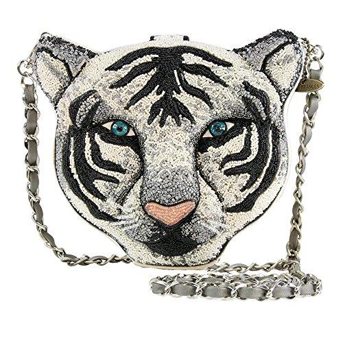 White Tiger Face Handbag