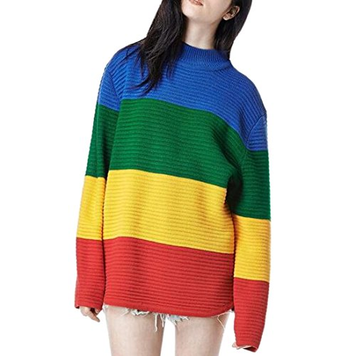 rainbow sweater for women