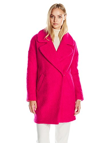 Women's Pink Wool Coat