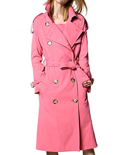 Cute PINK Trench Winter Coat for Women