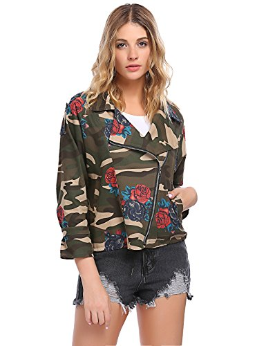 Floral Camouflage Cotton Jacket