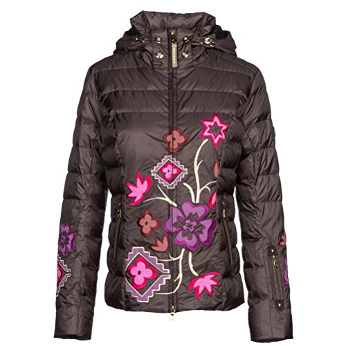 floral print ski jacket for women