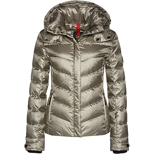 beautiful gold color ski jacket for women