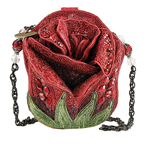 red rose shaped purse