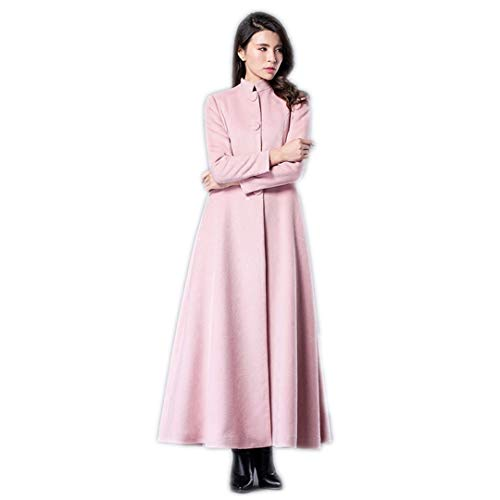 long pink cashmere coat