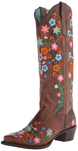 cute flower print cowboy boots
