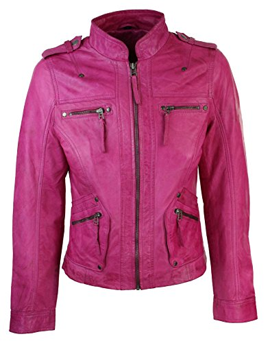 hot pink leather jacket for sale